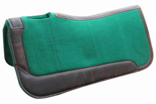 "31"" x 32"" x 1"" Green felt saddle pad"