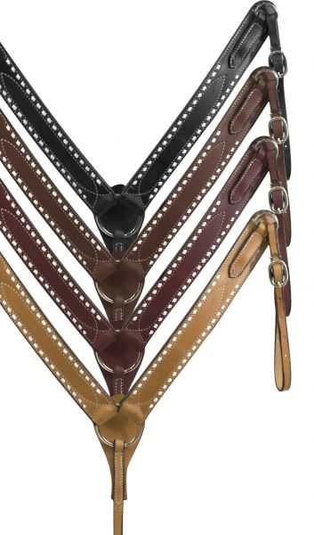 Breast Collar with Buck Stitching-Breast Collar with Buck Stitching