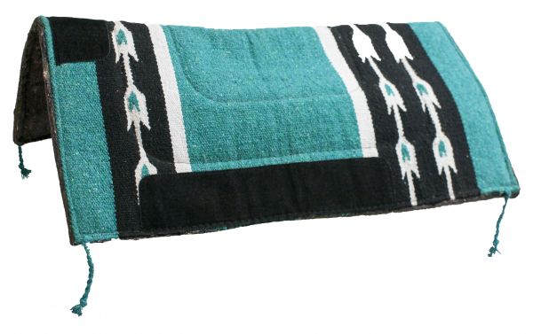 "32"" x 32"" Woven Acrylic Top Saddle Pad with Arrow Design and Felt Bottom"