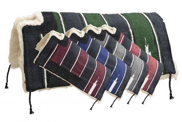 Economy style cutback Navajo pad with fleece bottom