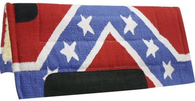 "30"" x 32"" rebel flag pad with Kodel fleece bottom and suede wear leathers"