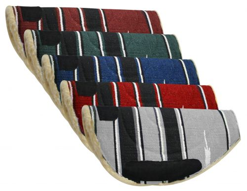 Navajo barrel pad with Kodel fleece bottom and suede wear leathers-Navajo barrel pad with Kodel fleece bottom and suede wear leathers