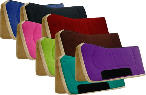 "32"" x 32"" contoured pad with Kodel fleece bottom and suede wear leather-32 x 32 contoured pad with Kodel fleece bottom and suede wear leather"