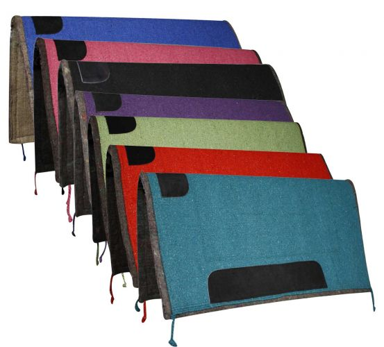 "32"" x 32"" solid colored pad with felt bottom and suede wear leathers"