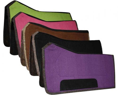 "32"" x 32"" contoured pad with felt bottom and suede wear leathers- 32 x 32 contoured pad with felt bottom and suede wear leathers"