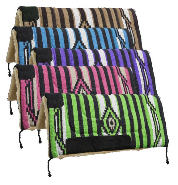 "32"" x 32"" Acrylic top saddle pad with fleece bottom.-32 x 32 Acrylic top saddle pad with fleece bottom."