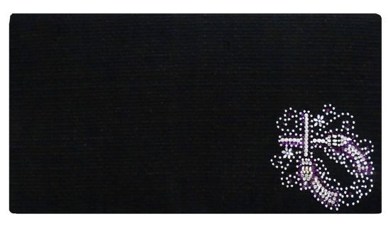 "38""x 34"" 100% Woven New Zealand wool saddle blanket with crystal rhinestone crossed guns design-38x 34 100% Woven New Zealand wool saddle blanket with crystal rhinestone crossed guns design"