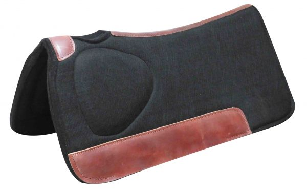 "31"" x 31""x 1"" Black felt saddle pad with built up shoulder"