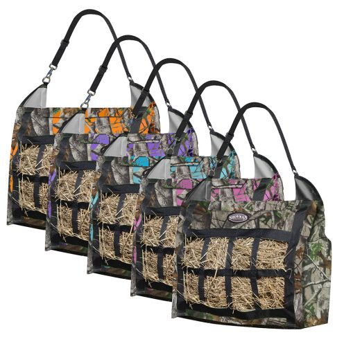 Real Oak nylon slow feed hay tote