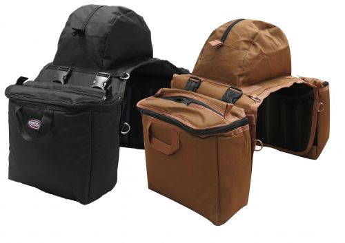 Heavy nylon cooler saddle bag