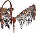Kaleidoscope Diamond print browband headstall and breastcollar set