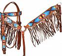 Hand Painted Tribal headstall and breast collar