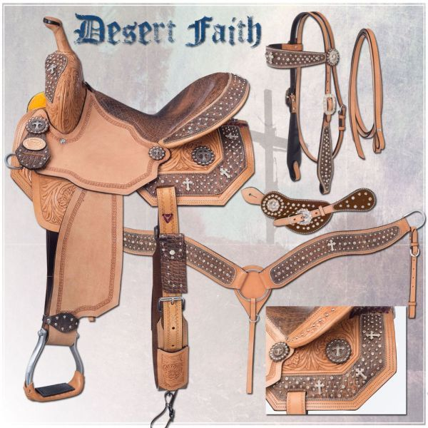 Desert Faith Barrel Saddle Package