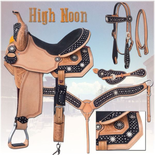 High Noon Barrel Saddle Package-High Noon Barrel Saddle Package