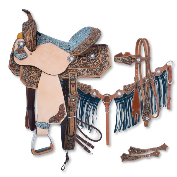 Silver Royal Skylar Collection 5 Piece Saddle Package- Silver Royal Skylar Collection 5 Piece Saddle Package