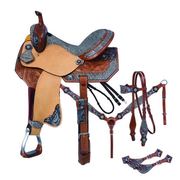 Silver Royal Jameson Collection 5 Piece Saddle Package