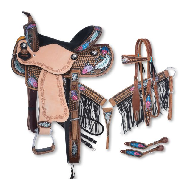 Silver Royal Delilah Collection 5 Piece Saddle Package-Silver Royal Delilah Collection 5 Piece Saddle Package