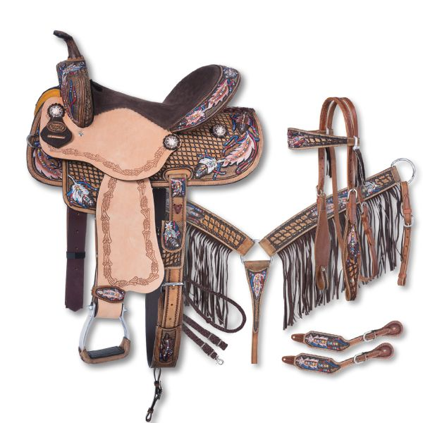 Silver Royal Naomi Collection 5 Piece Saddle Package-Silver Royal Naomi Collection 5 Piece Saddle Package