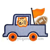 Tiger Driving Truck-Tiger, truck, football, auburn