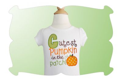 Cutest Pumpkin in the Patch-cute pumpkins, halloween, thanksgiving, appliques