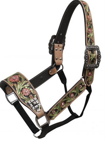 Floral Painted Belt Halter-Floral Painted Belt Halter