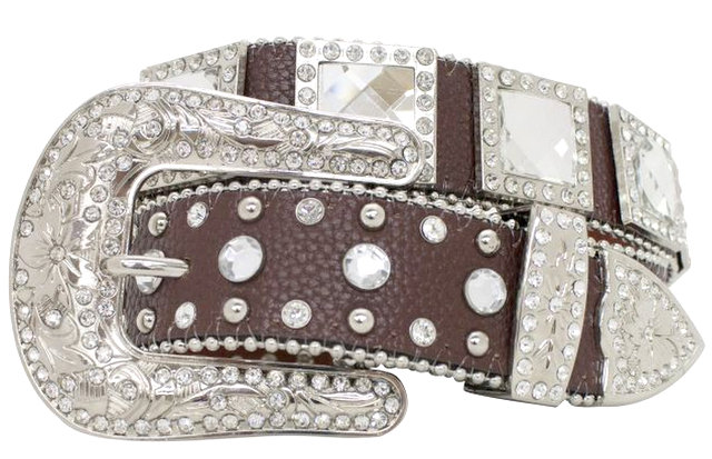 Showman Couture �  Western style bling belt with removable buckle.