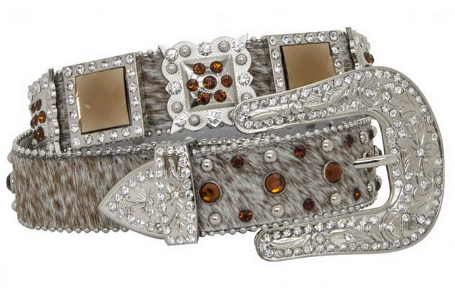 Showman Couture ™  Western style bling belt with removable buckle.-Showman Couture ™  Western style bling belt with removable buckle.