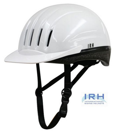 White EQUI-LITE Riding Helmet with Dial Fit System, by International Riding Helmets