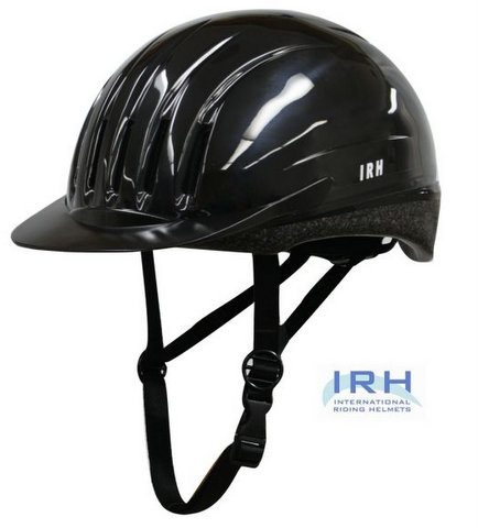 Black EQUI-LITE Riding Helmet with Dial Fit System, by International Riding Helmets