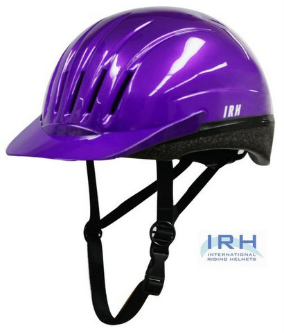 Purple EQUI-LITE Riding Helmet with Dial Fit System, by International Riding Helmets