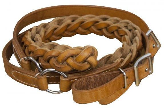 7ft Agentina cow leather contest reins
