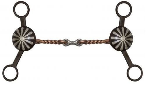 "5"" Brown Steel Concho Bit with Dogbone Mouth-5 Brown Steel Concho Bit with Dogbone Mouth"