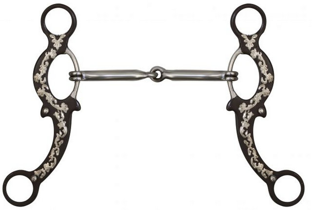 "5"" Brown Steel Snaffle bit."