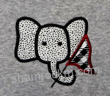 Elephant Waving Penant-elephant, football, houndstooth