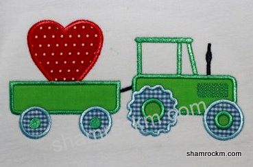 Tractor with Heart-valentines, tractors, tractor with heart, valentine design