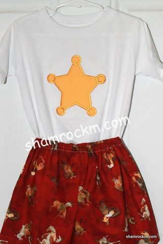Sheriff's Star Shorts Set-sheriff's star, short sets custom clothing