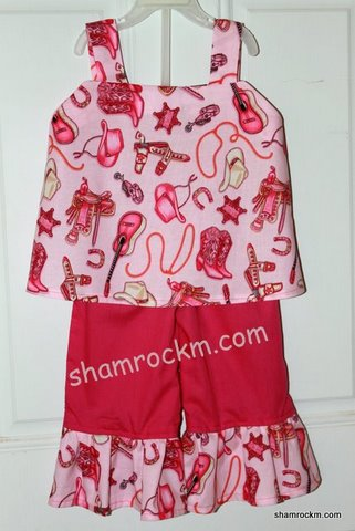 Cowgirl Cutie-cowgirl outfits, ruffle pants, ruffle pants outfits custom clothing