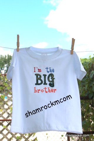 I'm the BIG brother-I'm the big brother, big brother shirt
