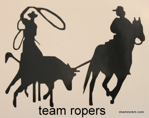 team roper-team roper vinyl decal