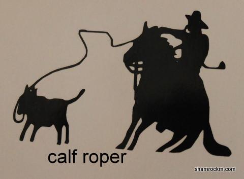 Calf Roper 1-calf roper vinyl decal, signs, banners,