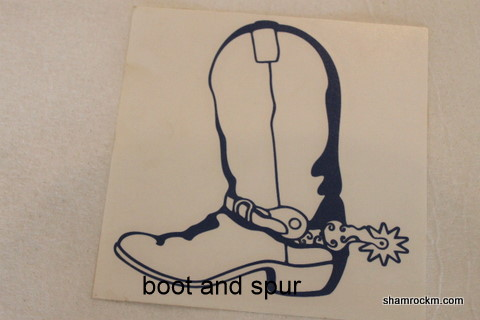Boot and Spur 1-cowboy boot vinyl decal, boot and spur, cowboy boot,
