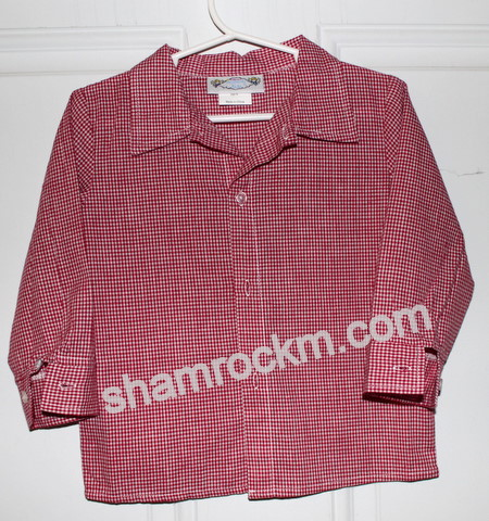 Boys Long Sleeve Gingham Shirt-long sleeve gingham shirt, boys shirt, cowboy shirt