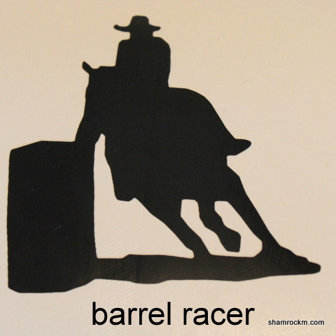 barrel racer 1-barrel racer vinyl decal