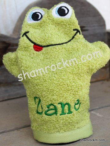 Froggy Bath Mitt-froggy bath mitt