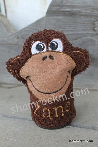 Monkey Face Hooded Towel and Mitt