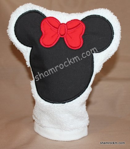 Girl Mouse Bath Mitt-girl mouse bath mitt
