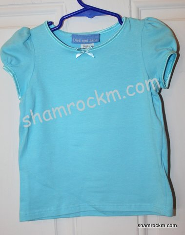 Satin Trim Blue T-shirt-satin trim blue t-shirt