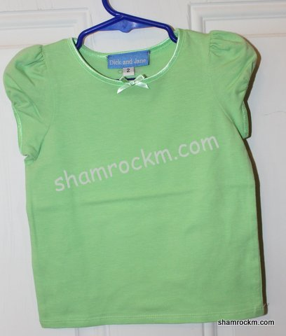 Satin Trim Mint Green T-shirt-satin trim mint green t-shirt