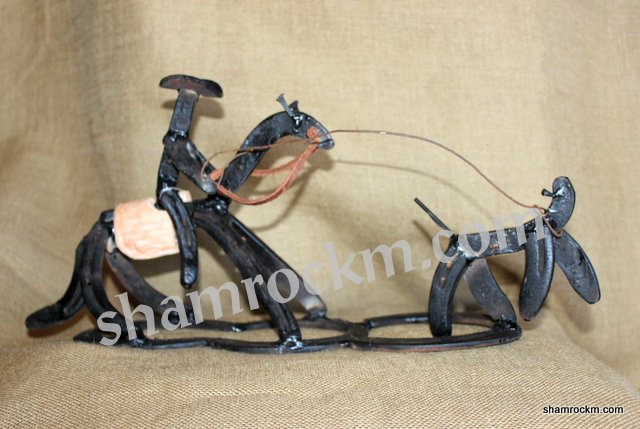 Horse Shoe Art Calf Roper