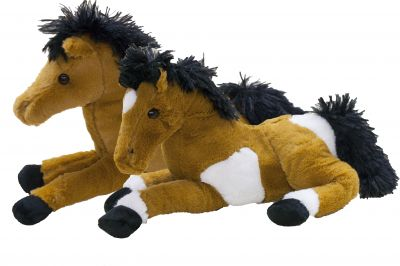"13"" Laying horse Plush Doll with Sound Effects"